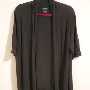 Ann Taylor long open cardigan black Size XLarge